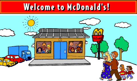 The McDonald's website in 1996